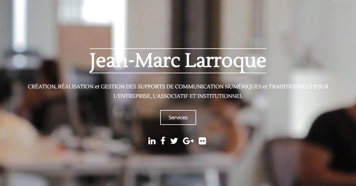 Jean-Marc Larroque – Social Media & Project manager, Photographie